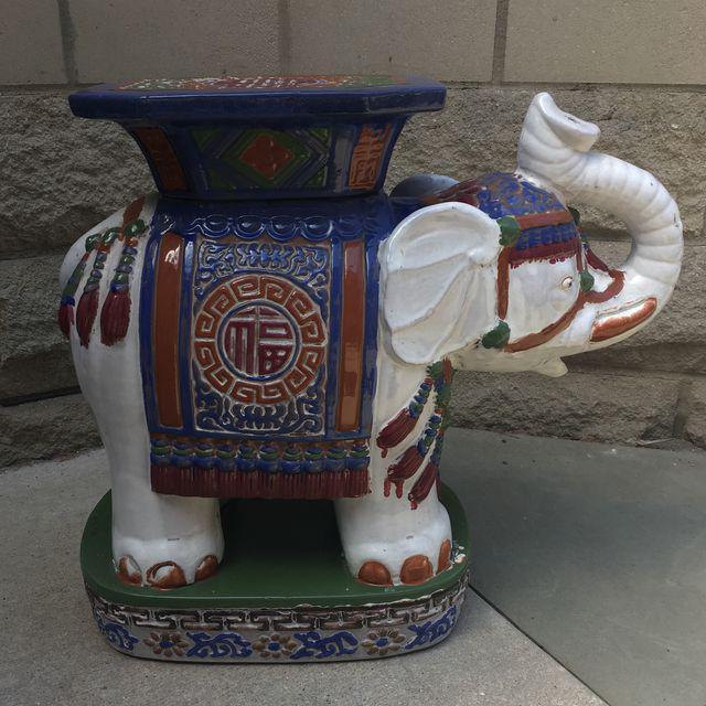 Superieur Vintage Chinoiserie Ceramic Elephant Garden Stool